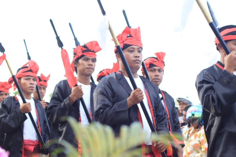 Pasukan Infantri Kerajaan Wuna ( Foto : repro Humas Penda Muna )